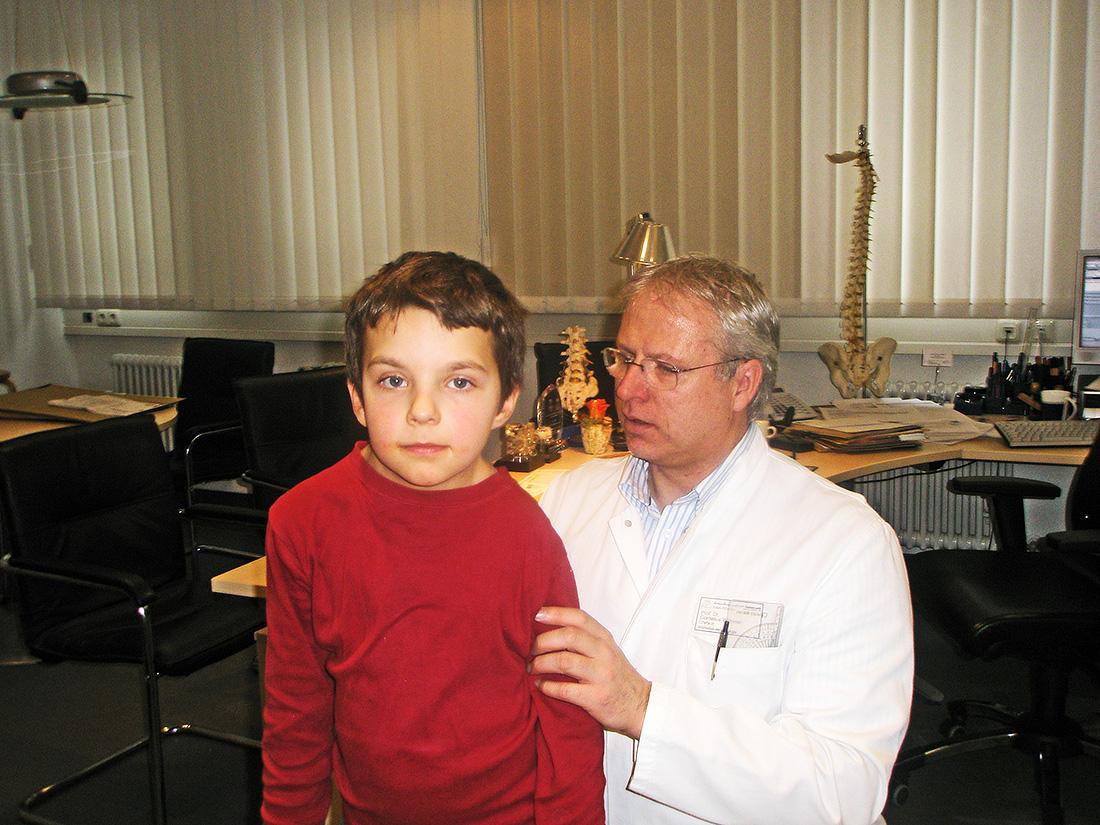 Andrej mit Prof. Wimmer