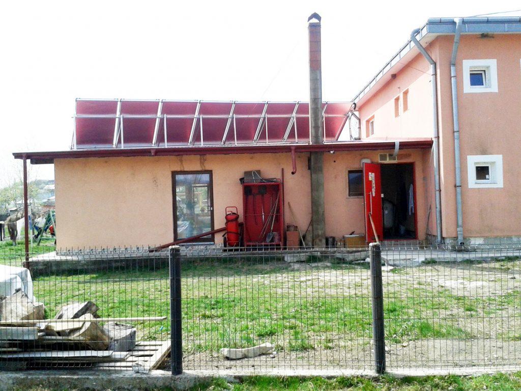Solaranlage-Sozialhaus-
